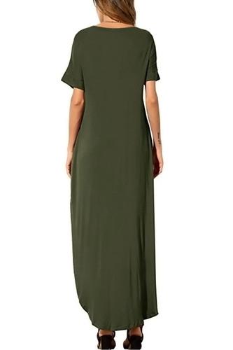 67e8cafe91 Mindy Khaki Belted Open Pocket Maxi Dress