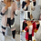 Thumbnail: Nicole Striped Patchwork Longline Knitted Cardigan