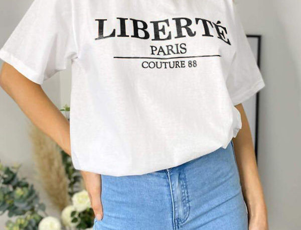 Liberte Paris Slogan T-shirt