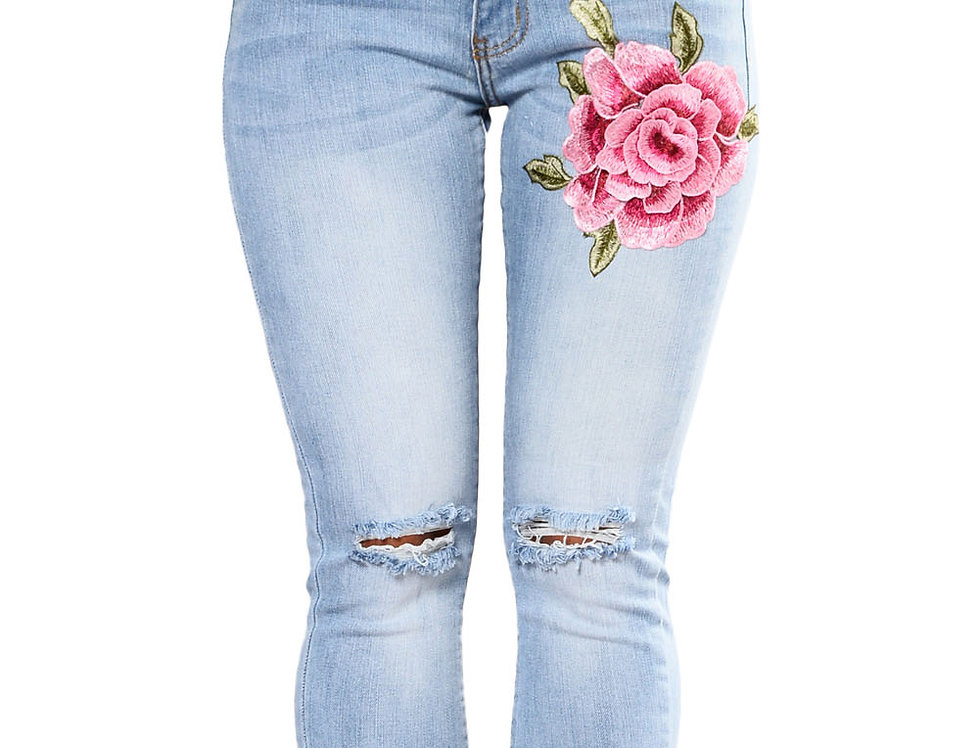 Amber Light Ripped Rose Jeans