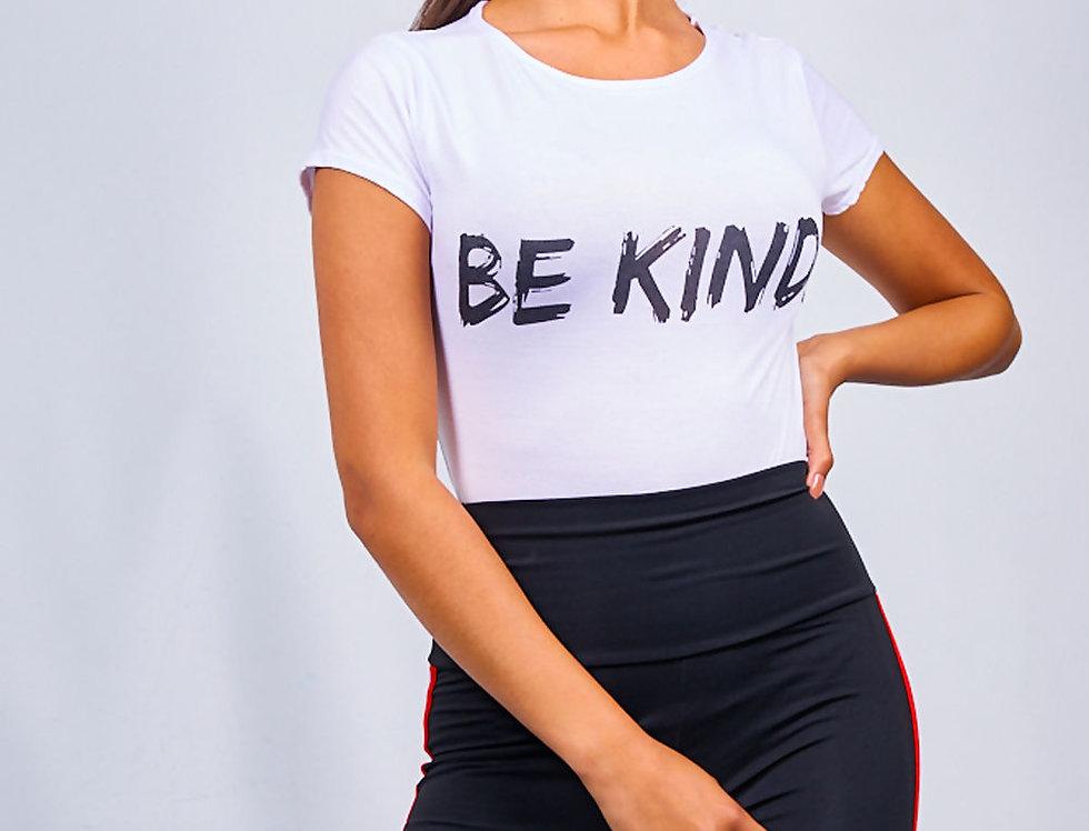 Be Kind Casual Slogan T-shirt