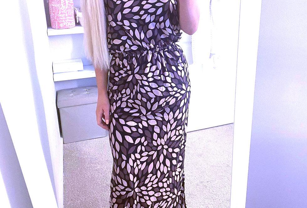 Sadie Brown Boho Halterneck Printed Maxi Dress