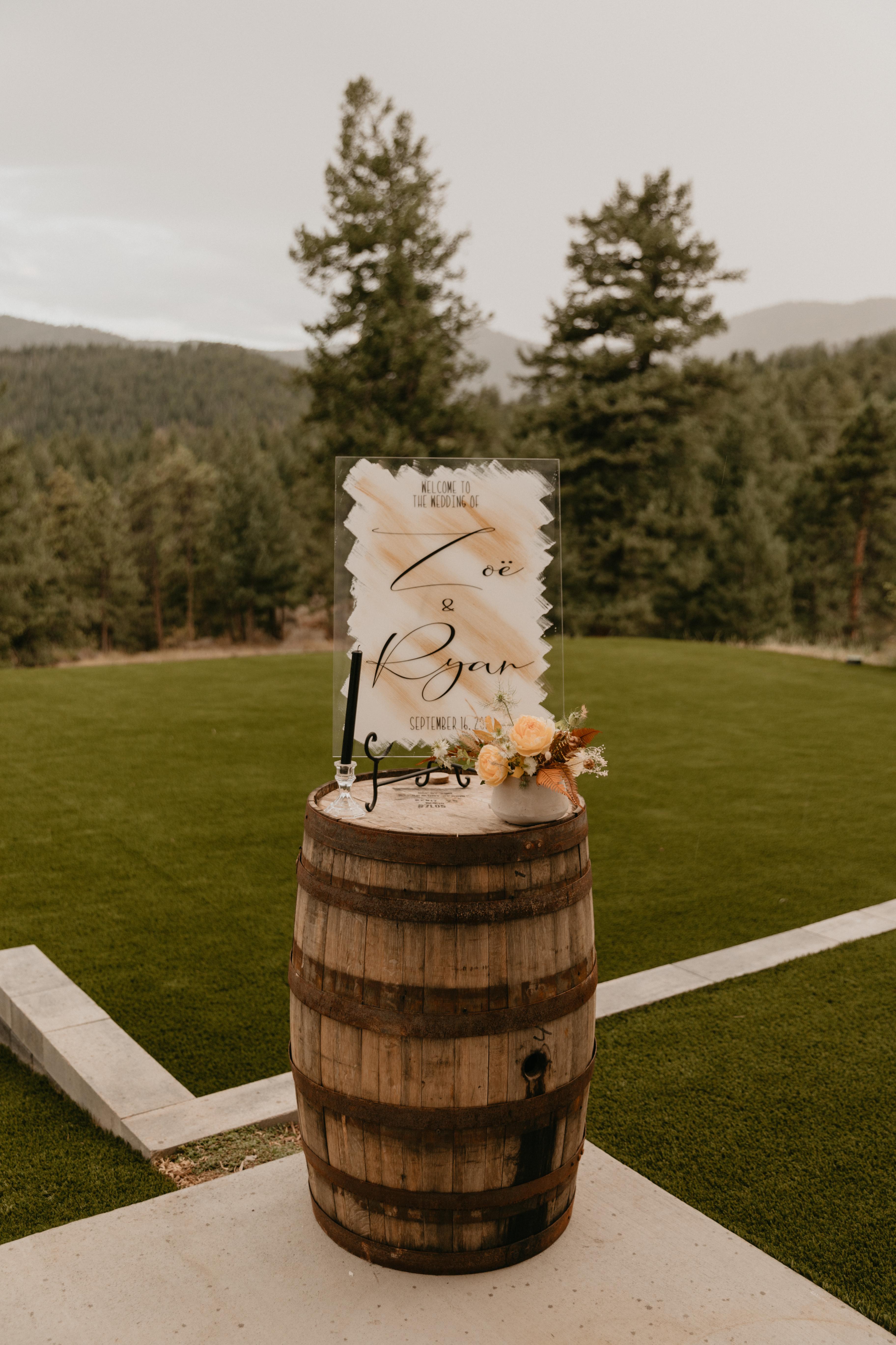 Custom wedding signs denver