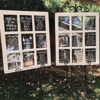 Table Assignments Chart Wedding