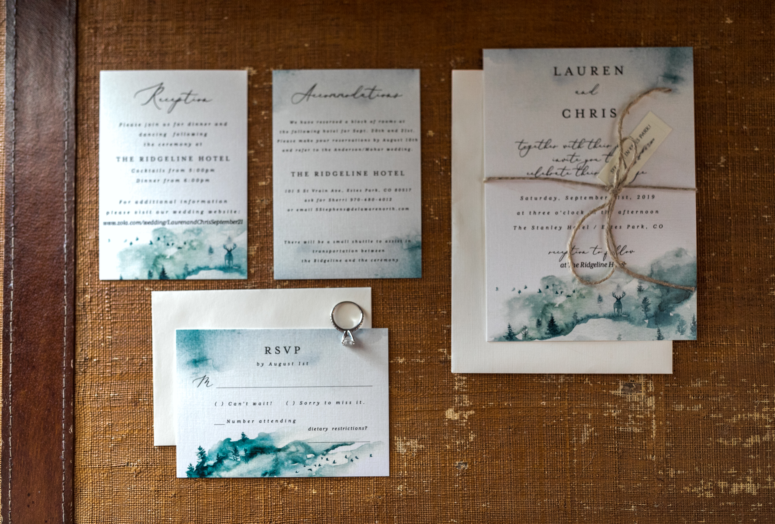 Wedding invite The Stanley Hotel