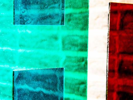 Minimalist glass design in layers
