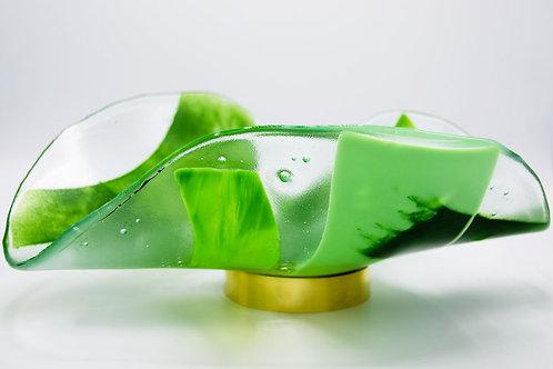 Glass Bowl Gathering Moss