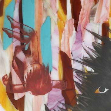 Me-and-mr-Anxiety-Three-glass-art-glaskunst-painting-schilderij-evelien-de-bruijn-3.png