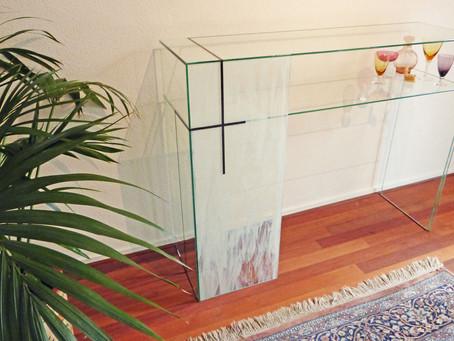 I made a glass table!