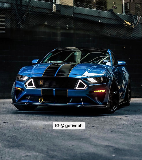 I-5 TECH White LED Grille (18-21 Mustangs)
