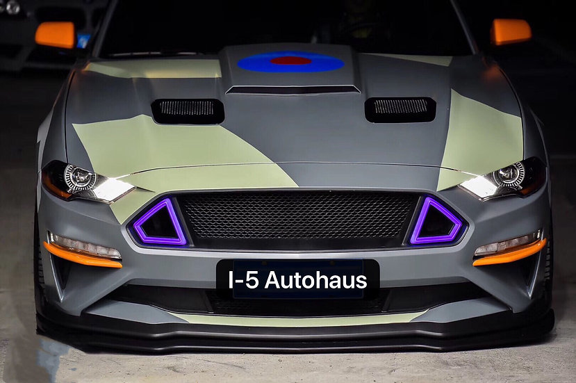 I-5 TECH LED ColorShift Grille (18-20 Mustangs)