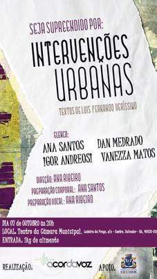 """Peça de Teatro """"Intervenções Urbanas II"""" - Centro de Cultura da Câmara Municipal de Salvador - 7 de outubro de 2016"""