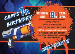 Nerf Blast Party Invitation