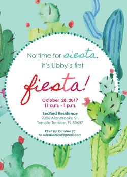 First Fiesta Invitation