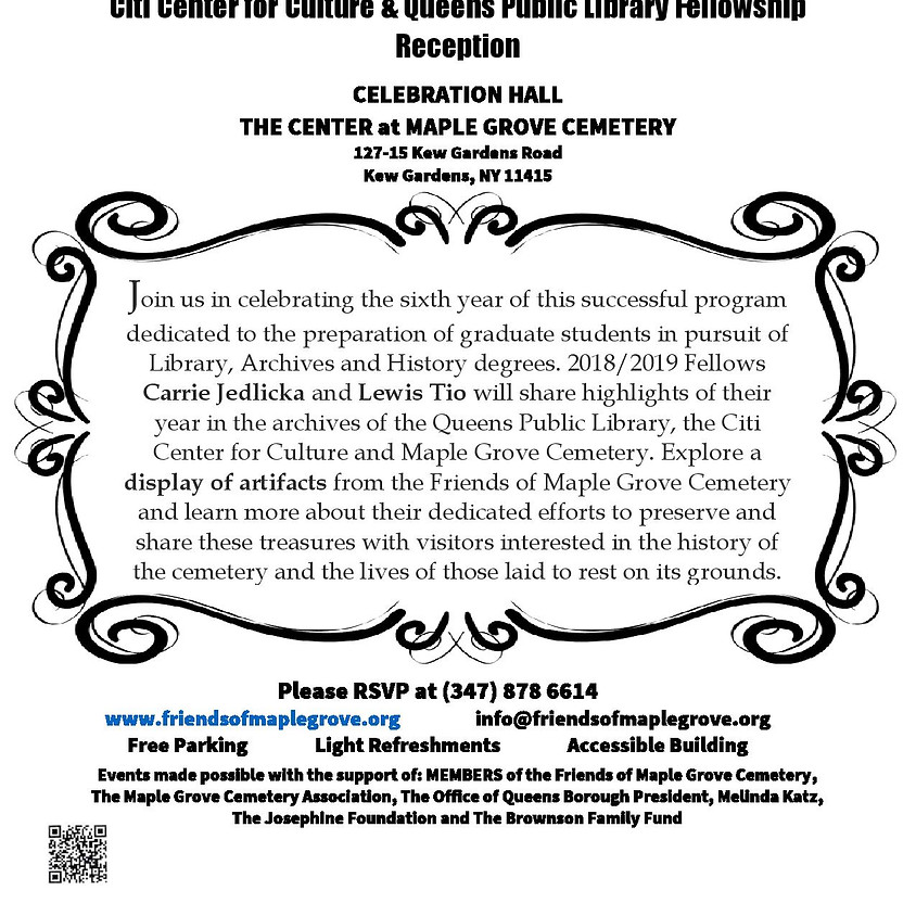 Citi Center for Culture & Queens Public Library Fellowship Reception