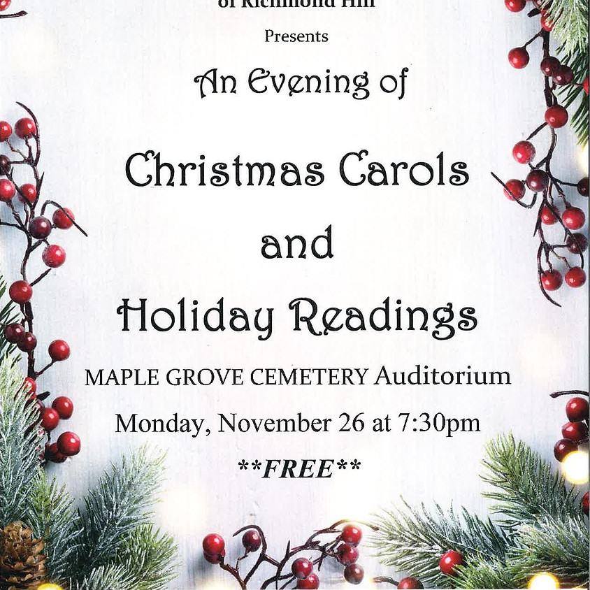An Evening of Christmas Carols and Holdiay Readings
