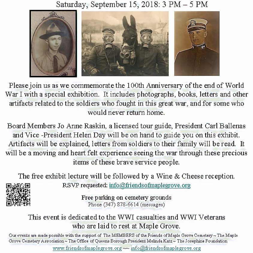 WWI Exihbit Opening & Lecture