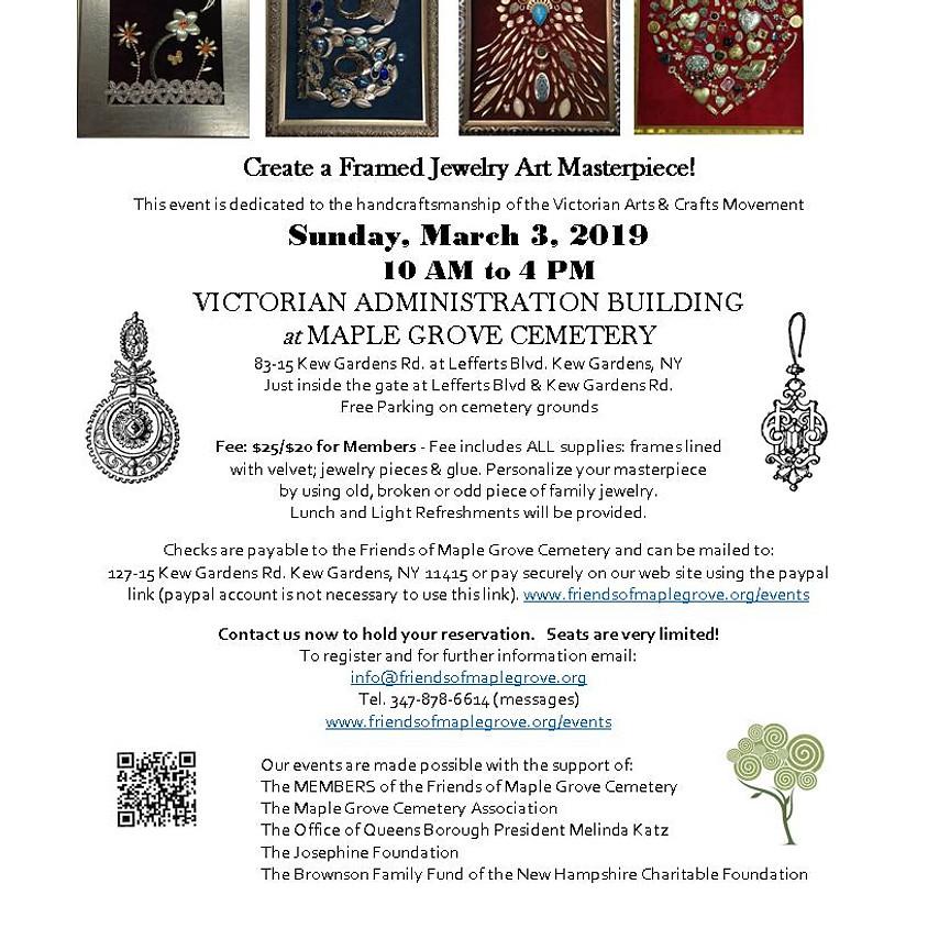 Framed Jewelry Art Workshop