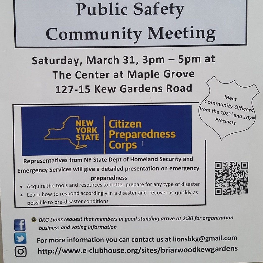 Public Safety Community Meeting
