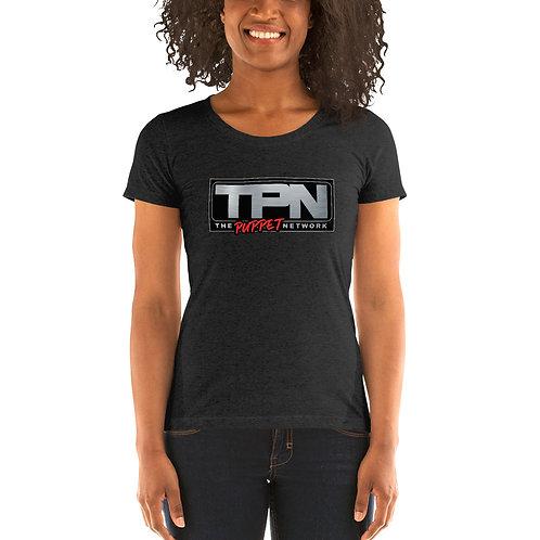 The Puppet Network Ladies Tri-blend Short Sleeve Shirt