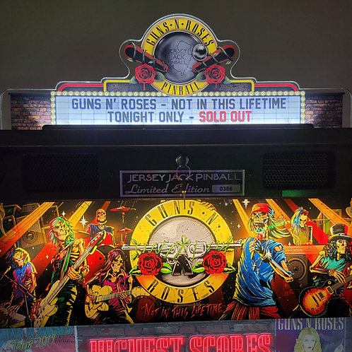 Official Guns N' Roses Pinball Topper