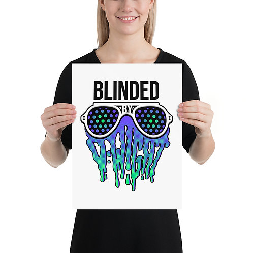 Blinded By D-wight BLUE/GREEN Art Print
