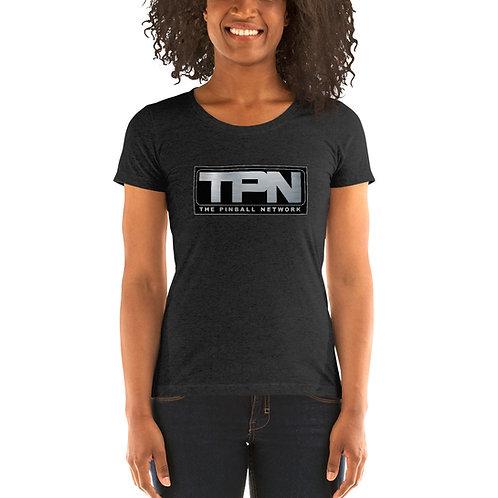 The Pinball Network Ladies Tri-blend Short Sleeve Shirt