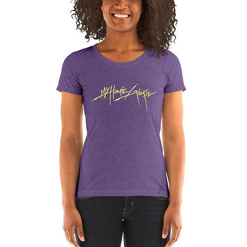My Homie Gomie BM66 Ladies Tri-blend Short Sleeve Shirt