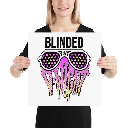 Blinded By D-wight PINK/YELLOW Art Print
