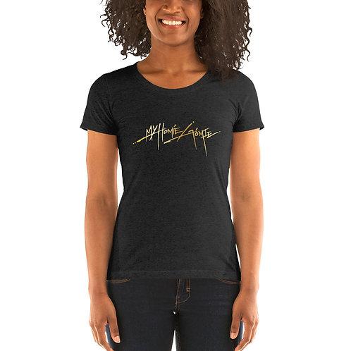 My Homie Gomie LOTR Ladies Tri-blend Short Sleeve Shirt