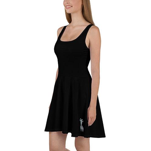 The Pinball Show Goat Black Skater Dress