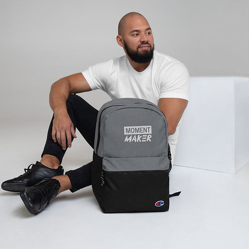 Moment Maker Embroidered Champion Backpack