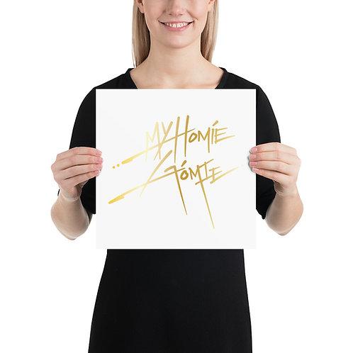My Homie Gomie GOLD Art Print