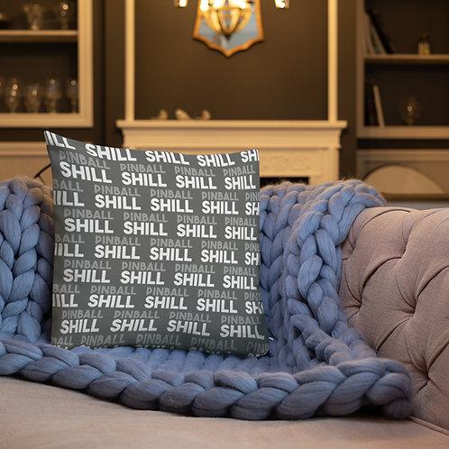 Pinball Shill Premium Pillow GRAY