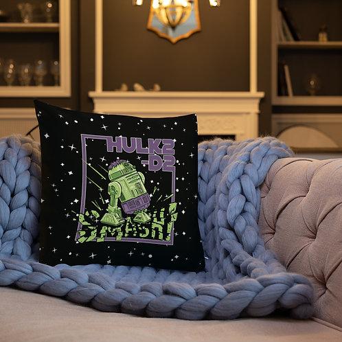 HULK2-D2 Premium Pillow BLACK