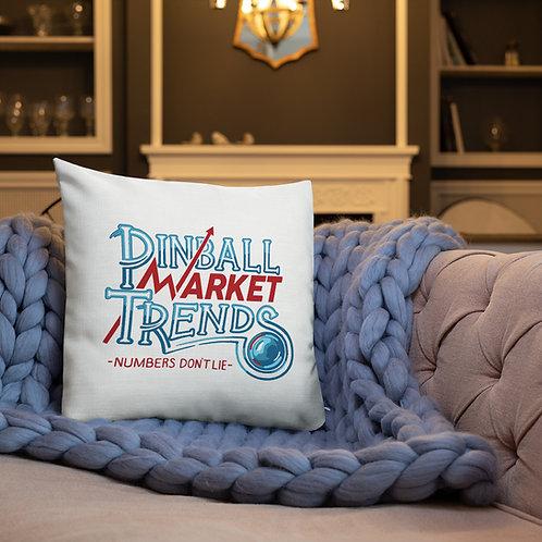 Pinball Market Trends Premium Pillow WHITE