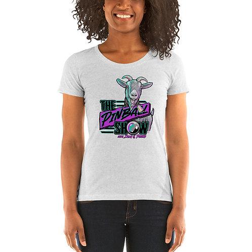 The Pinball Show Goat Ladies Tri-blend Short Sleeve Shirt