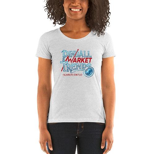 Pinball Market Trends Ladies Tri-blend Short Sleeve Shirt