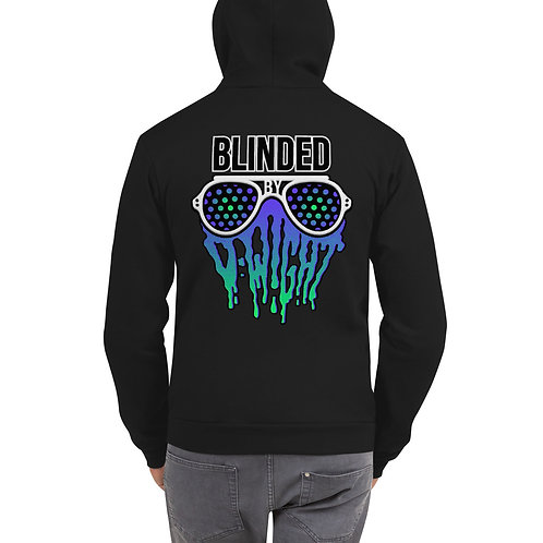 Blinded By D-wight BLUE/GREEN Zip-Up Hoodie