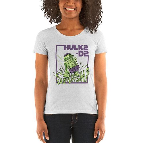 HULK2-D2 Ladies Tri-blend Short Sleeve Shirt