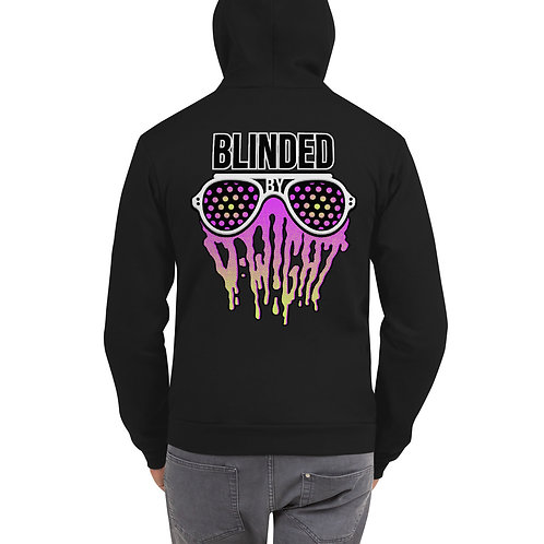 Blinded By D-wight PINK/YELLOW Zip-Up Hoodie