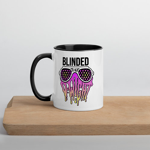 Blinded By D-wight Mug WHITE/YELLOW/PINK