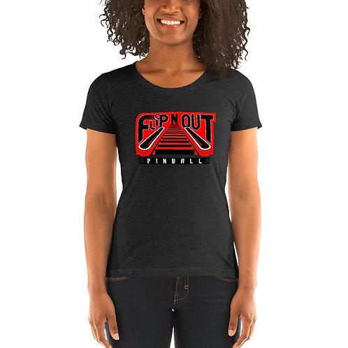 Flip N Out Pinball Ladies Tri-blend Short Sleeve Shirt