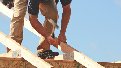 Roofer at Work