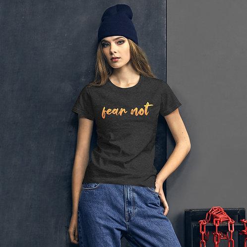 Fear Not Orange Ombre Women's short sleeve t-shirt