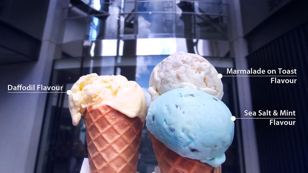 Unusual flavour ice creams
