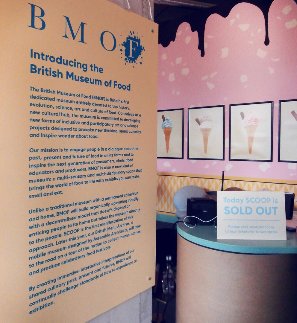 British Museum of Food Scoop Exhibit
