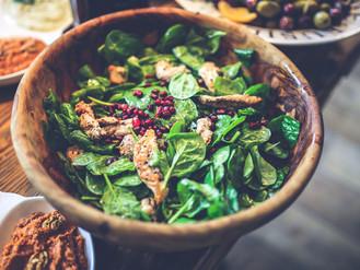 Chicken Spinach Pomegranate Salad