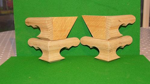 Oak OG shaped Longcase feet