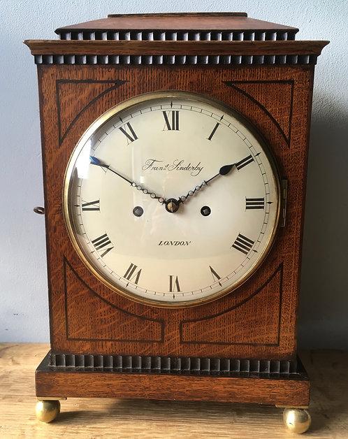 "Antique Bracket clock signed 'Francis Sinderby"""